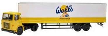 OXFORD DIECAST 76SC110004 OO SCALE Scania 110 40ft Box Trailer Walls Ice Cream
